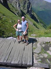 lacbleu20 (Gina Stafford) Tags: france 2005 hiking pyrenees lacbleu gina bill