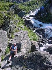 lacbleu17 (Gina Stafford) Tags: france 2005 hiking pyrenees lacbleu bill