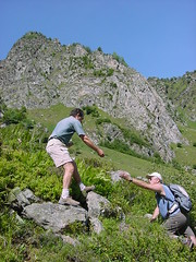 lacbleu6 (Gina Stafford) Tags: france 2005 hiking pyrenees lacbleu bernard bill
