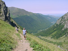 lacbleu21 (Gina Stafford) Tags: france 2005 hiking pyrenees lacbleu bill