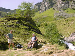 lacbleu2 (Gina Stafford) Tags: france 2005 hiking pyrenees lacbleu bernard bill