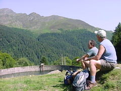 lacbleu1 (Gina Stafford) Tags: france 2005 hiking pyrenees lacbleu bernard bill