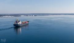 Sault Ste Marie, Ontario (Petoskey Drones) Tags: ship tanker greatlakes drone