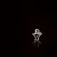 snowman (-liyen-) Tags: crystal swarocski snowman blackground negativespace stilllife fujixt2 56mmf12 explore