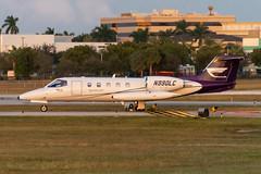 N990LC Learjet 35-483 KFXE (CanAmJetz) Tags: n990lc learjet 35483 kfxe fxe bizjet aircraft airplane nikon sunset