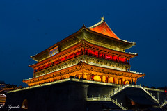 Drum Tower (E. Aguedo) Tags: china chineseculture tower drum tourism xian long exposure architecture illumination asia night famousplace building