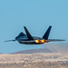 A F-22 RAPTOR AFTERBURNING OUT OF NELLIS