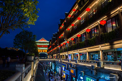 Xi'an (E. Aguedo) Tags: xian china asia longexposure street night colors city architecture building exterior tourism nightscape