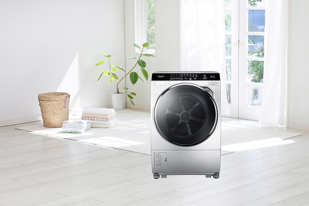 圖八-奇美輕柔淨美滾筒洗衣機搭載多種洗淨技術讓主婦們洗滌衣物輕鬆不費力-來年開春擁抱好運到(圖中商品型號:WS-P168WD)