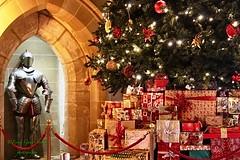 All wrapped up.... (fionarosegunn) Tags: warwickcastle warwickshire warwick christmaspresents christmastree christmasdecor christmas