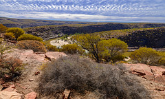 Mackeral Sky (christorrington) Tags: kalbarri national park westernaustralia murchison river gorge sandstone mackeralsky clouds fish scales