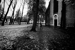 In the silence (debeeldenplukker) Tags: bruges brugge beguinage blackandwhite monochrome zwartwit noiretblanc silence church