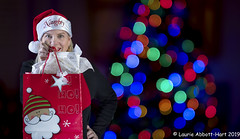 Merry Christmas (Laurie2123) Tags: christmas2019 christmasbokeh fujixt2 fujifilmxf56mm laurieturnerphotography laurietakespics odc ourdailychallenge composite laurie2123 offcameraflash selfportrait