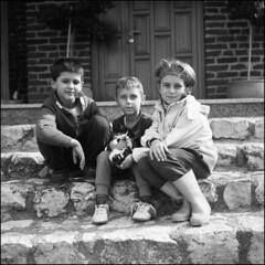 Kids (Koprek) Tags: fomapan 100 6x6 120 medium format yashicamat124g film analog kids portrait cat