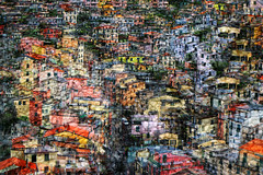 Cinqueterre (HWHawerkamp) Tags: italy cinqueterre city cityscapes modern creativ travel multilayer colours riomaggiore abstract graphics