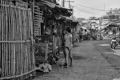 Behind the scenes (Beegee49) Tags: street people filipina market blackandwhite monochrome sony a6000 bw bacolod city philippines asia happyplanet asiafavorites