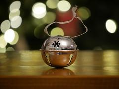 Jingle All The Way (nikagnew) Tags: christmas bell ornament bokeh shiny simple jinglebell