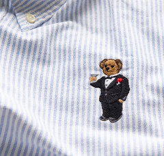 _DSC5167 (BobPetUK) Tags: ralphlauren bear embroidered embroidery martini shirt cotton clothing decoration motif teddybear drink drinking