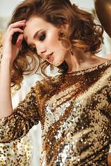 *** (TatianaAntoshina) Tags: people portrait postprocessing person photo photoshop pretty profile canon christmas gold girl glamour