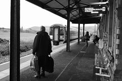 Trên o Aberystwyth yn cyrraedd y Borth (Rhisiart Hincks) Tags: gorsaf stáisiún geltoki tihenthouarn tigar gare estacion station stèisean porzhhouarn rheilffordd henthouarn hynshorn trenbide iarnród burdinbide chemindefer railway rathadiarainn eisenbahn ferrocarril ferrovia geležinkelis 铁路 鉄道 caleferată blancinegre duagwyn gwennhadu dubhagusgeal dubhagusbán blackandwhite bw zuribeltz blancetnoir blackwhite monochrome unlliw blancoynegro zwartwit sortoghvid μαύροκαιάσπρο feketeésfehér juodairbalta yborth ceredigion oc'hortoz zain aros waiting a'feitheamh agfanacht ue eu ewrop europe eòrpa europa aneoraip a'chuimrigh kembra wales cymru kembre gales galles anbhreatainbheag 威爾斯 威尔士