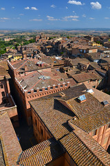 Siena view (Thomas Roland) Tags: unesco world heritage site piazza del campo view udsigt landscape landskab landschaft europe europa italy italia italien sommer summer nikon d7000 travel rejse toscana tuscany by stadt town city siena