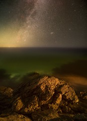 The Rock (Manos Tzavaras) Tags: astrophotography astroscape astronomy seascape a7s