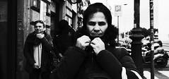 Wrap up. (Baz 120) Tags: candid candidstreet candidportrait city contrast street streetphoto streetcandid streetportrait strangers rome roma ricohgrii europe women monochrome monotone mono noiretblanc bw blackandwhite urban life portrait people provoke italy italia grittystreetphotography faces decisivemoment