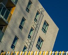 The yellow border (jefvandenhoute) Tags: belgië antwerpen light shapes wall windows