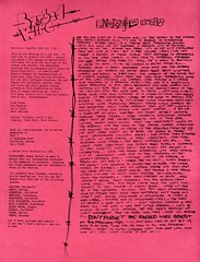 The dawning of a new era.... (stillunusual) Tags: barbedwire fanzine punkfanzine punkzine punk postpunk indie mod guildford 1980s 1980