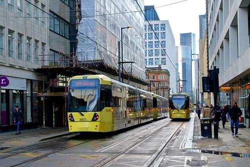 Mosley Street Manchester Metrolink.