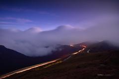 雲山連峰 (風景獵人) Tags: taiwan 台灣 風景 風景獵人 landscape nantou 南投 高山 mountain 合歡山 hehuan 雲海 cloud 夜景 night star 星空 車軌 trail