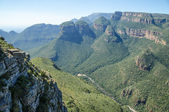 Blyde River Canyon (South Africa) (My Wave Pics) Tags: nature canyon landscape africa river blyde south scenic view mpumalanga water african mountain rock tourism travel cliff southafrica sky outdoor three green stream horizontal panorama park outdoors luck color sun gorge route mpumulanga beautiful geological bourke summer blue colorful big blyderivercanyon panoramaroute bridge attraction formation morning wild environment plants panoramic