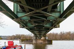 Under the bridge (frankdorgathen) Tags: alpha6000 sonyzeiss24mm eisen iron baldeneysee ruhrgebiet ruhrpott essen perspektive perspective eisenbahnbrücke railwaybridge