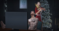 *So this is your idea of a romantic Christmas? Think again!* ❤️ (Ⓐⓝⓖⓔⓛ (Angeleyes Roxley)) Tags: samposes him time sl secondlife mainstore guy groupgift single bento