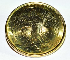 """""""Best with Holidays is...Angels Watching over Me"""" (Zoom Lens) Tags: bestwithholidaysisangelswatchingoverme bestwithholidaysis macromondays micro macro angel coin christmas holidays sacred protection guidance"""