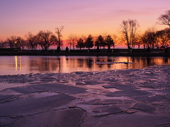 Dawn on Bronte Creek (Gavin Edmondstone) Tags: bronteharbour brontecreek dawn ice oakville ontario canada cans2s