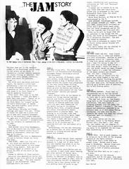 The Jam Story (stillunusual) Tags: barbedwire fanzine punkfanzine punkzine punk postpunk indie mod guildford jam thejam 1980s 1980