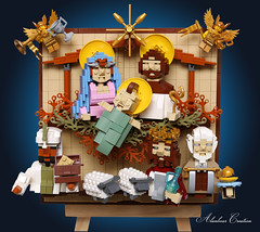 LEGO The Birth of Jesus 耶穌降生 (alanboar) Tags: christmas lego jesus angel mary joseph wisemen god savior moc