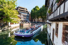 We gonna need a bigger boat (George Plakides) Tags: strasbourg tourist boat canal littlefrance lapetitefrance halftimbered houses
