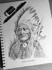 Native American Chief series Chief Washakie (schunky_monkey) Tags: lead graphite mechanicalpencil illustration art drawing draw sketchbook sketching sketch portrait pencil leader chief indigenous nativeamerican native chiefwashakie