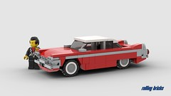 Christine - INSTRUCTIONS - (Rolling bricks) Tags: movie retro 80s moviecar lego speed champions speedchampions oldtimer car legocar vintage classic classiccar coupe instructions 6studs 6wide minifig minifigure city musclecar muscle moc vehicle