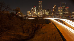 (jfre81) Tags: houston downtown skyline i45 interstate 45 freeway highway expressway light stream long exposure urban city lights 713 htx htown texas usa tx america fourth largest bayou space oil energy james fremont photography jfre81 canon rebel xs eos