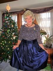 The Wisconsin Housewife (Laurette Victoria) Tags: dress blonde necklace xmas laurette woman