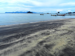 Black Sand Beach (meren34) Tags: sand black sea beach langkawi malaysia south asia volcanic travel
