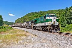 NS 361 w/ Southern Railway Heritage (Steve Hardin) Tags: southern railway norfolksouthern railroad railfan train manifest freight heritageunit locomotive engine es44ac braswell rockmart georgia