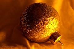 Golden Festive Mood ... (MargoLuc) Tags: christmas greetings faith happy golden glitter ball