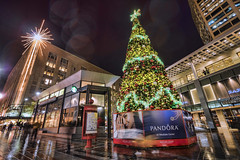 Remember when? Holidays in Westlake Park 2015 (Seattle Department of Transportation) Tags: seattle sdot transportation westlake park plaza seattleparks parks tree star lights macys starbucks wayfinding sign rain holiday downtown rememberwhen