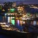 Antalya Port at night