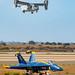 V-22 Sliding Above the Blue Angels #1 Jet