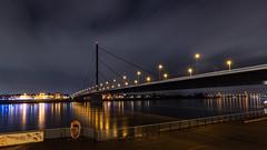 Oberkasseler Brücke (~Mario~) Tags: bridge bridges brücken night nacht licht light düsseldorf nrw germany deutschland